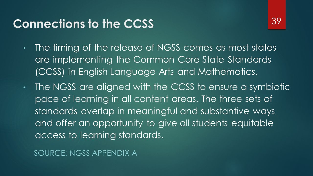 Connections to the CCSS