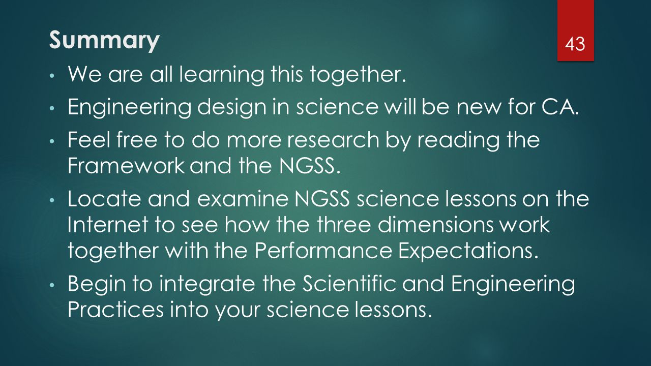 Summary We are all learning this together.