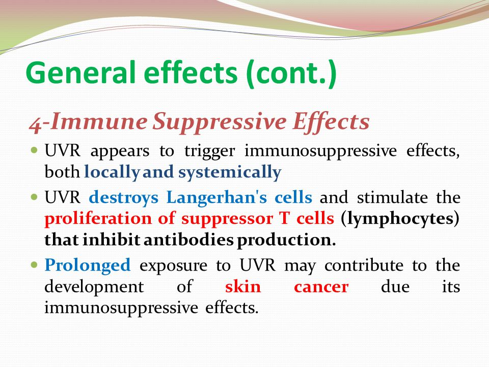 General effects (cont.)