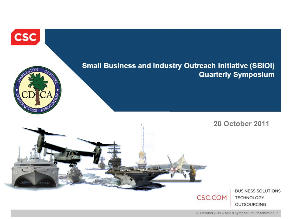 Small Business and Industry Outreach Initiative (SBIOI) Quarterly Symposium