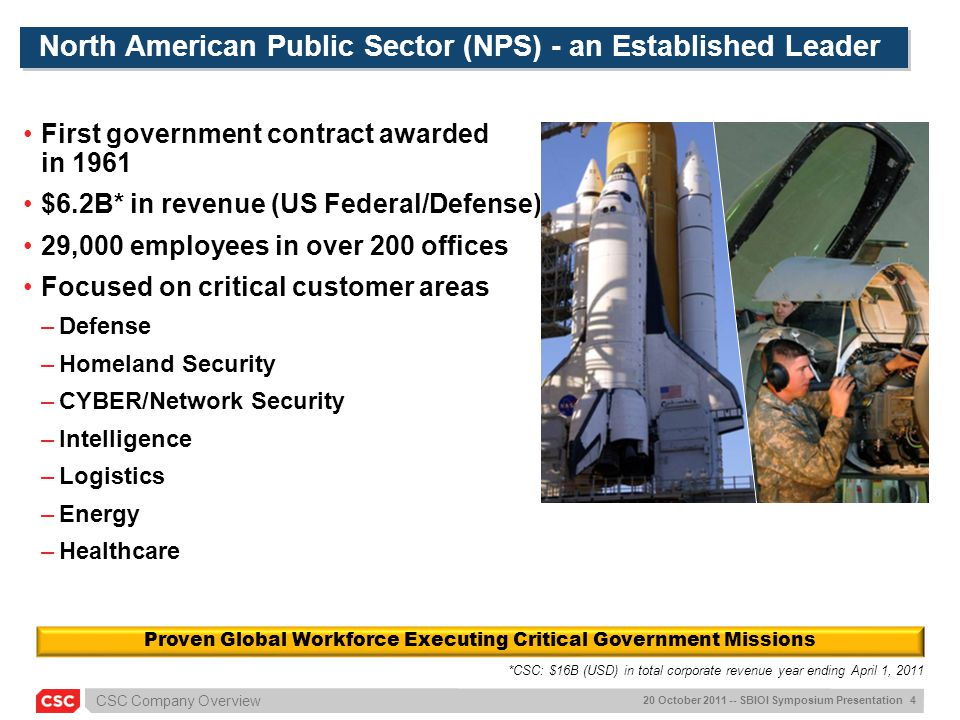North American Public Sector (NPS) - an Established Leader