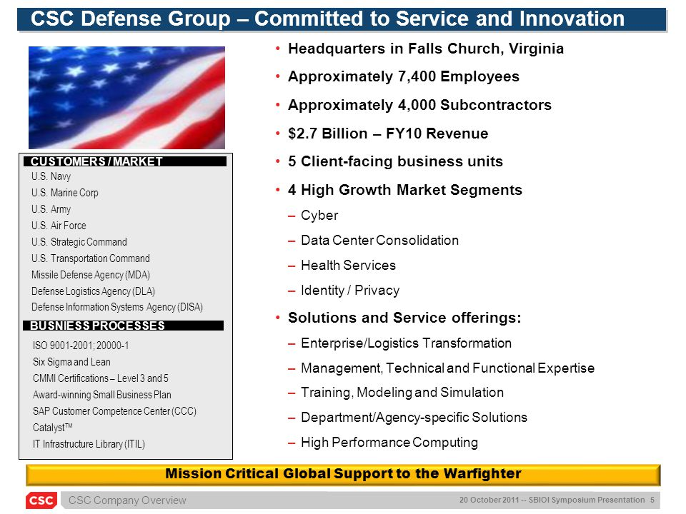 CSC Defense Group – Committed to Service and Innovation