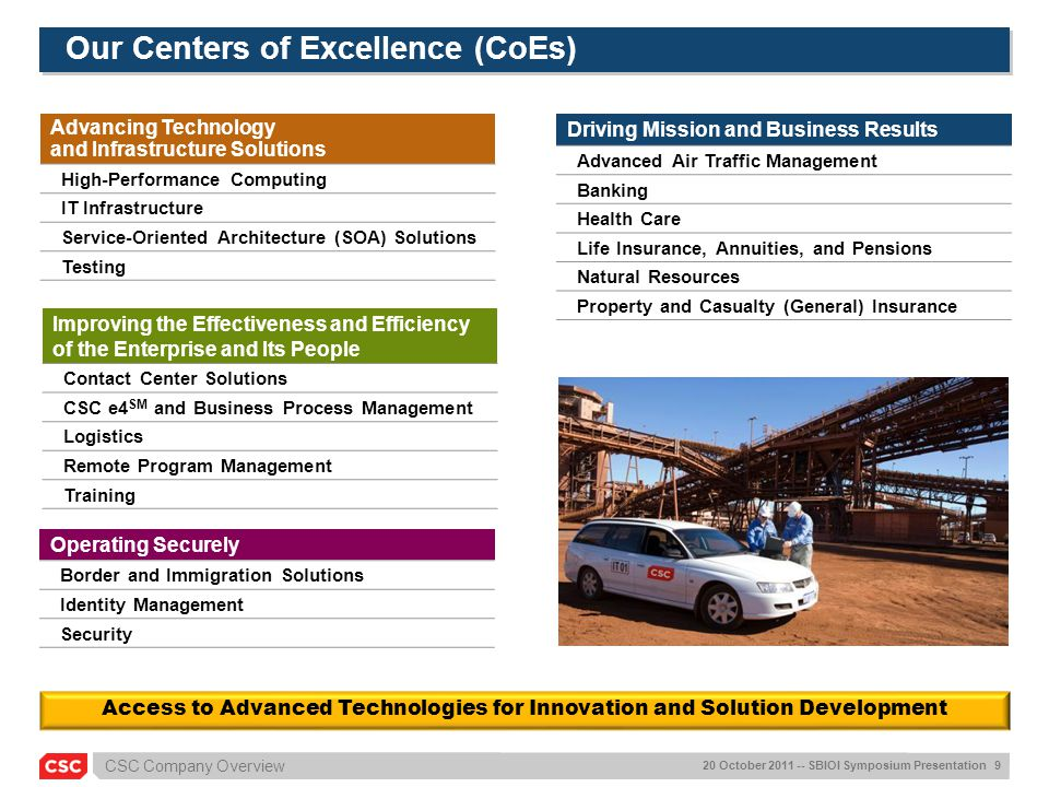 Our Centers of Excellence (CoEs)