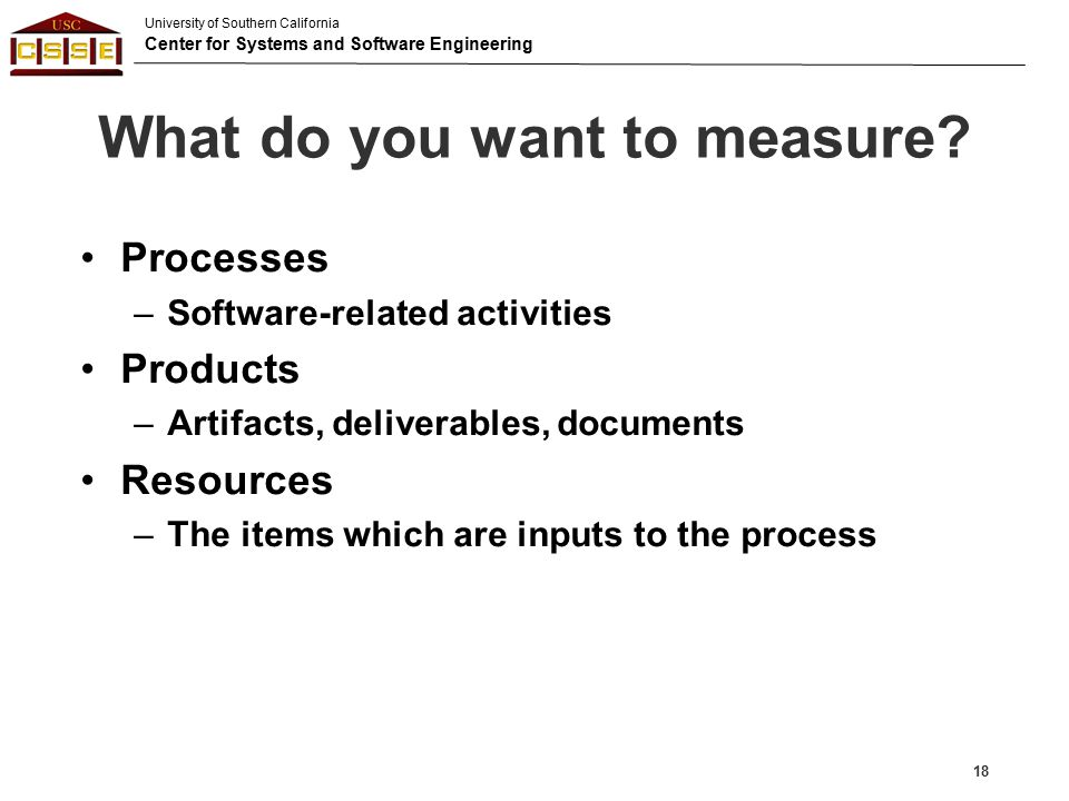What do you want to measure