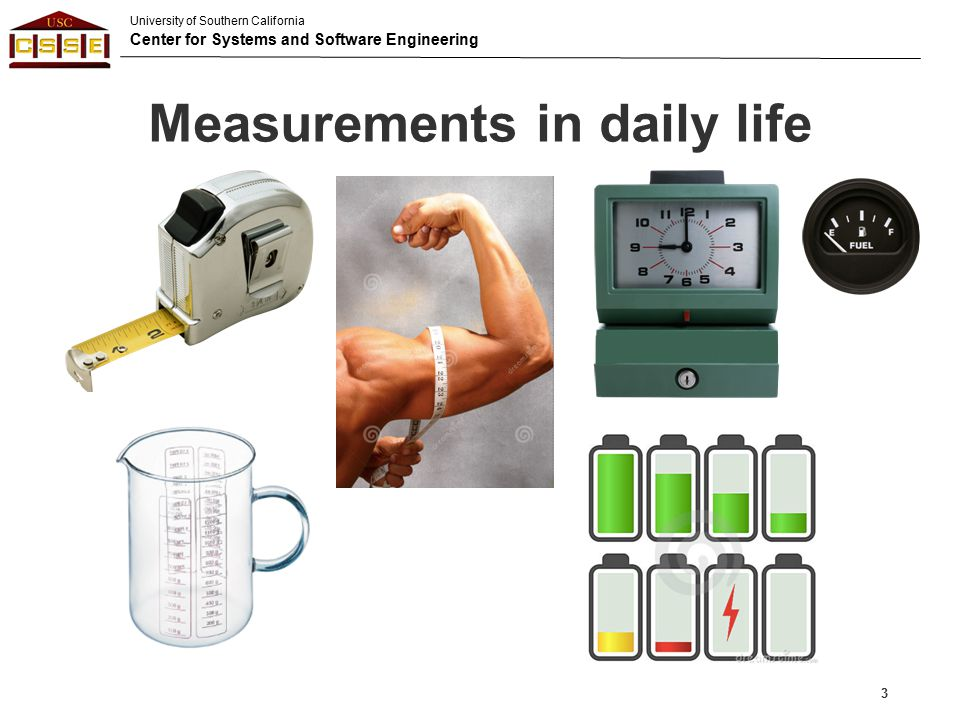 Measurements in daily life