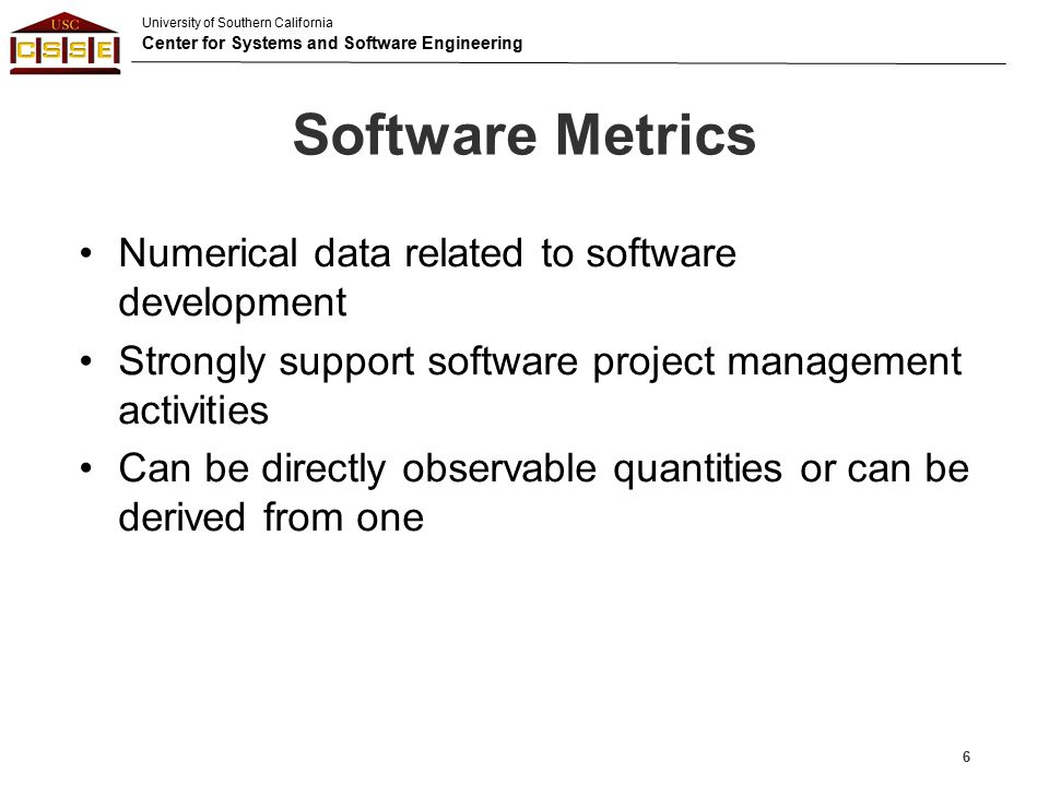 Software Metrics Numerical data related to software development