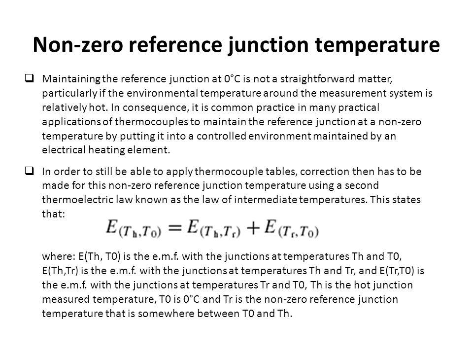 Non-zero reference junction temperature