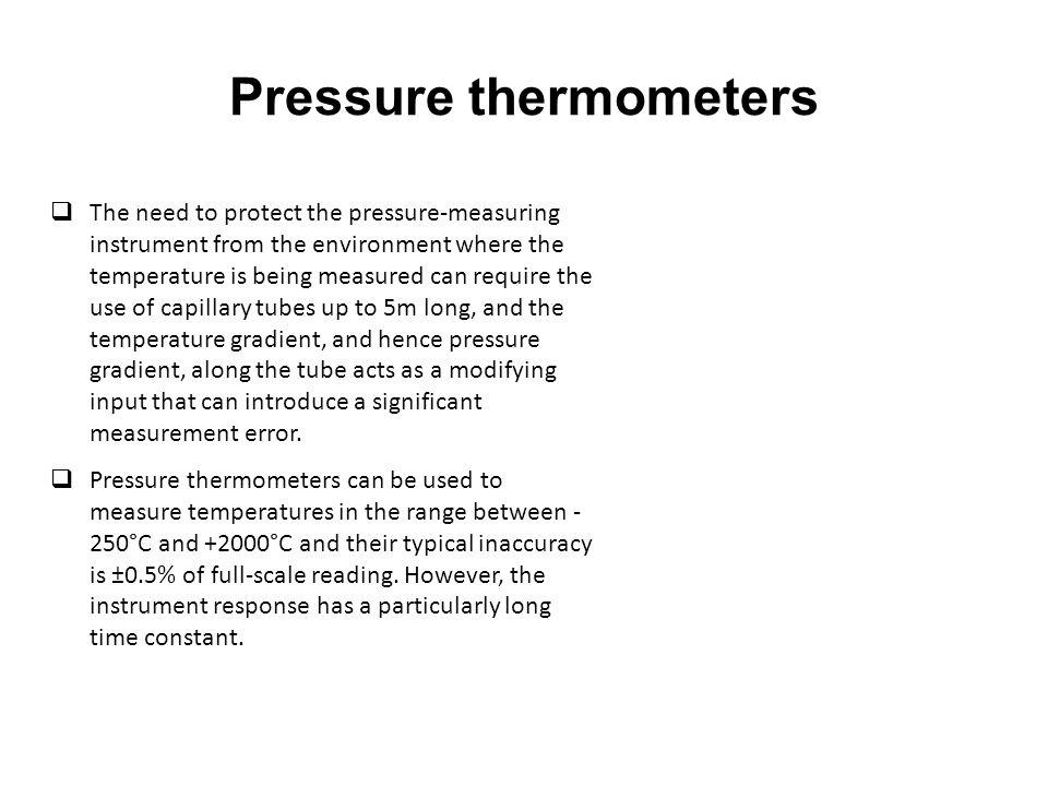 Pressure thermometers
