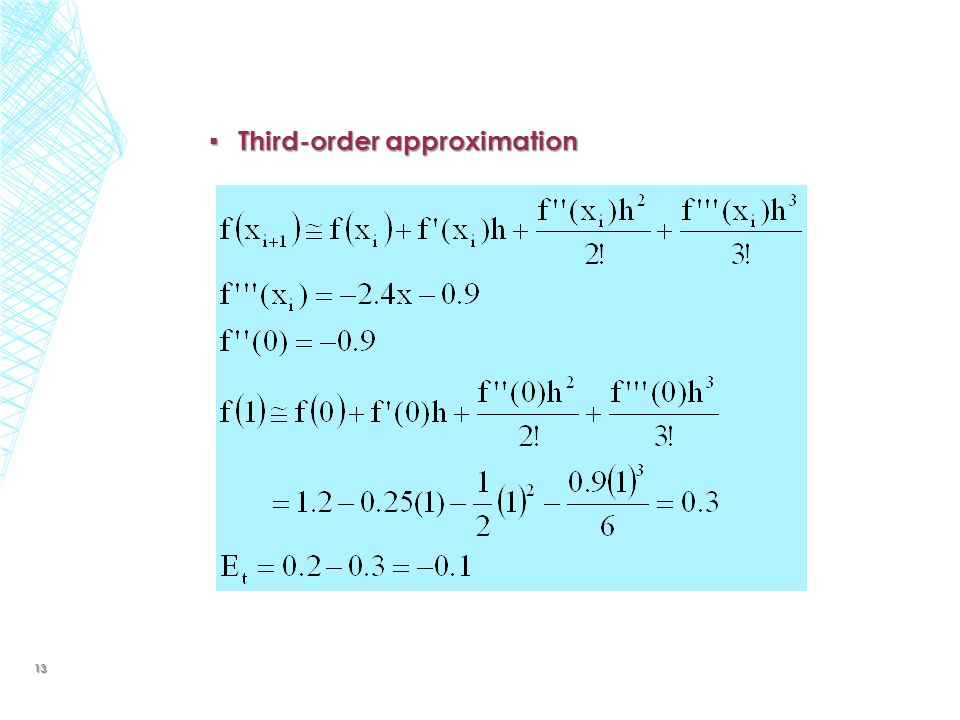 Third-order approximation