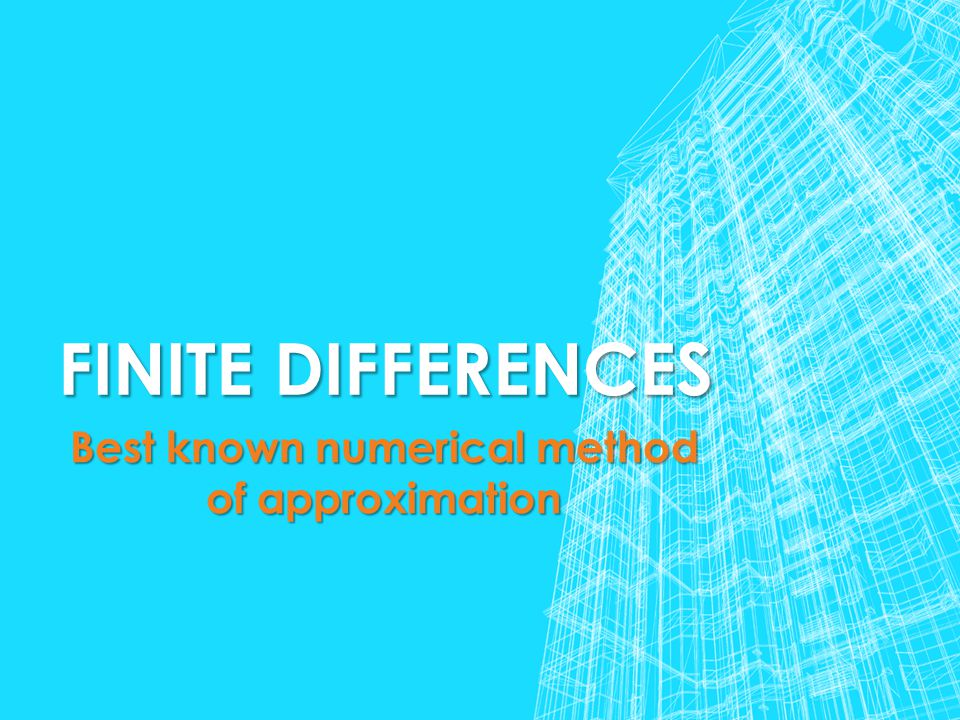 Best known numerical method of approximation