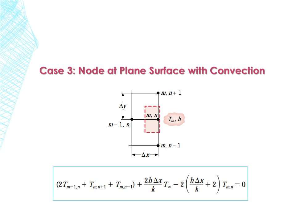 Case 3: Node at Plane Surface with Convection