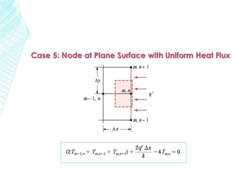 Case 5: Node at Plane Surface with Uniform Heat Flux