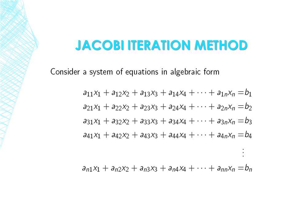 jacobi ITERATION method