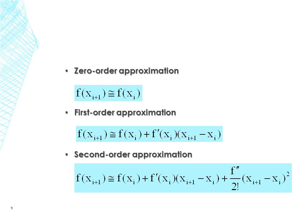 Zero-order approximation