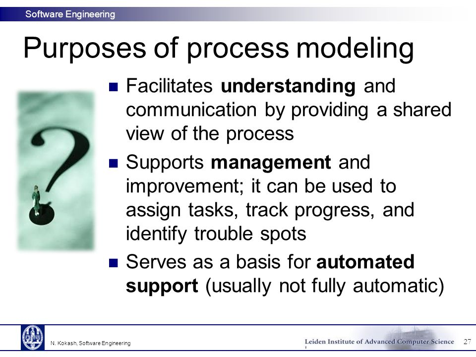 Purposes of process modeling
