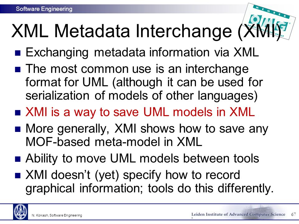 XML Metadata Interchange (XMI)
