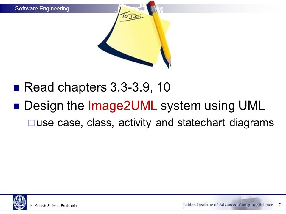 Design the Image2UML system using UML