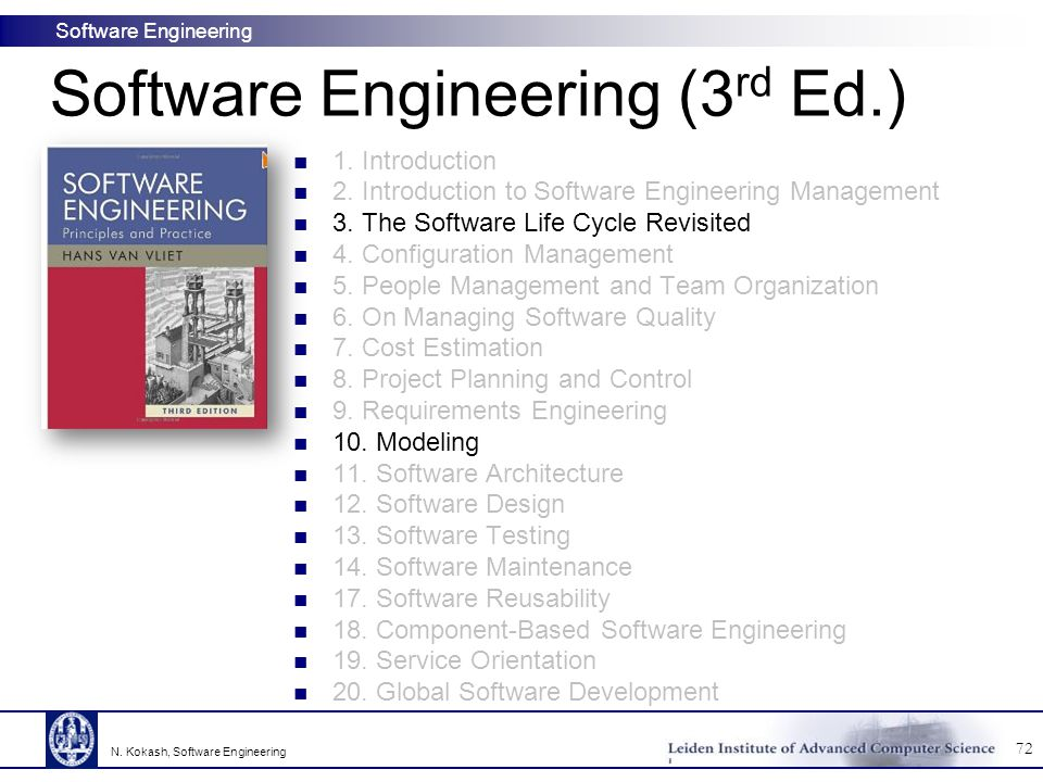Software Engineering (3rd Ed.)