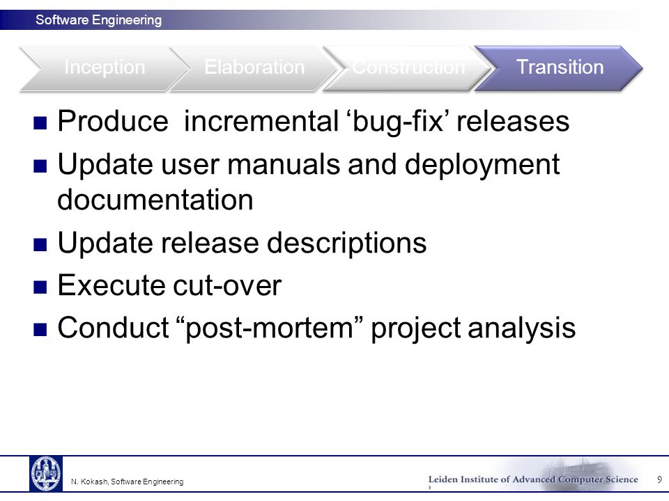 Produce incremental 'bug-fix' releases