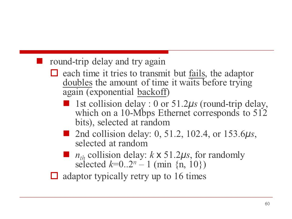 round-trip delay and try again