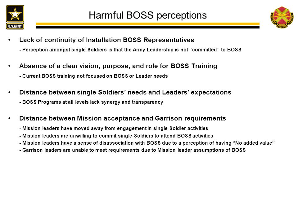 Harmful BOSS perceptions