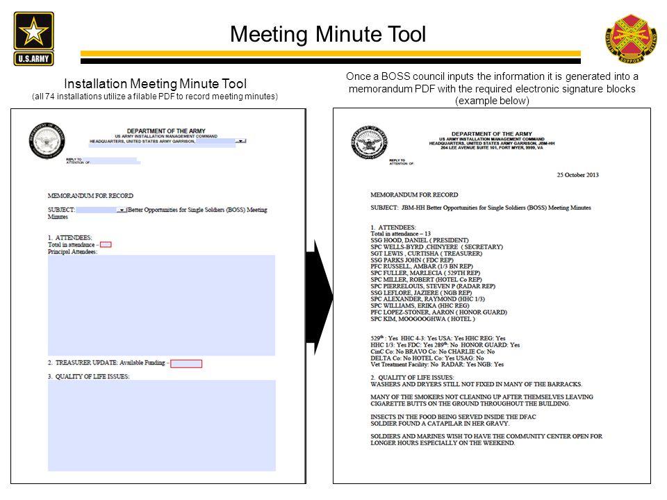 Meeting Minute Tool Installation Meeting Minute Tool