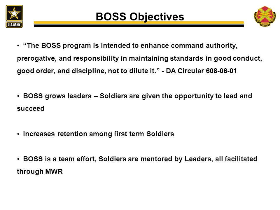 BOSS Objectives