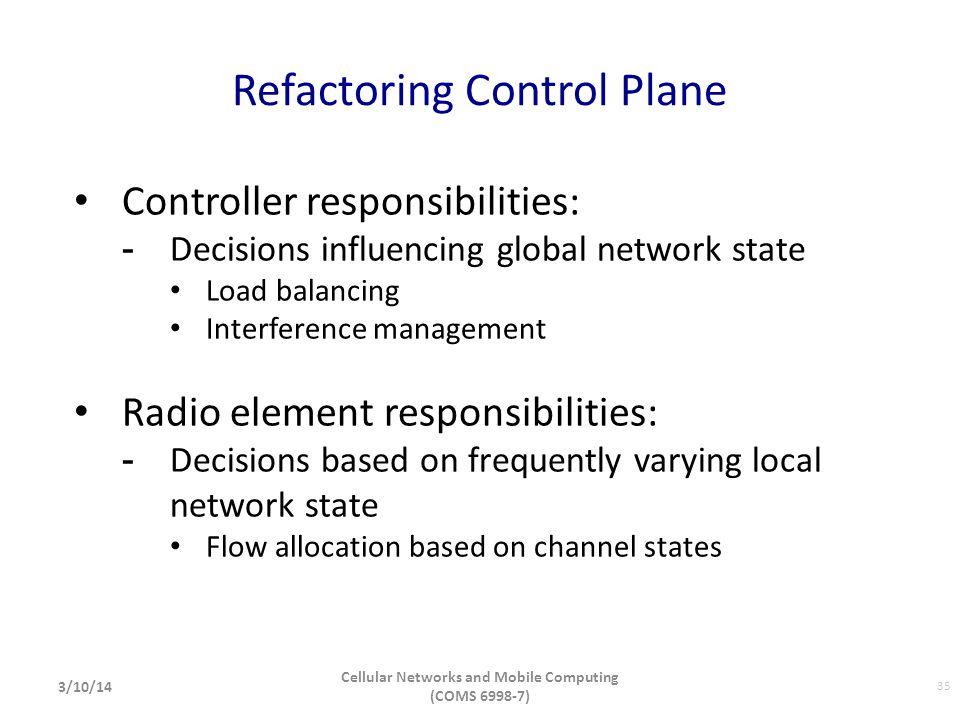 Refactoring Control Plane