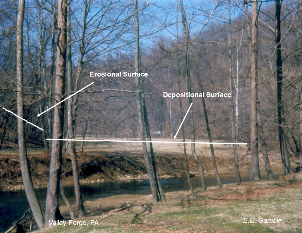 Erosional Surface Depositional Surface E.E. Gamble Valley Forge, PA