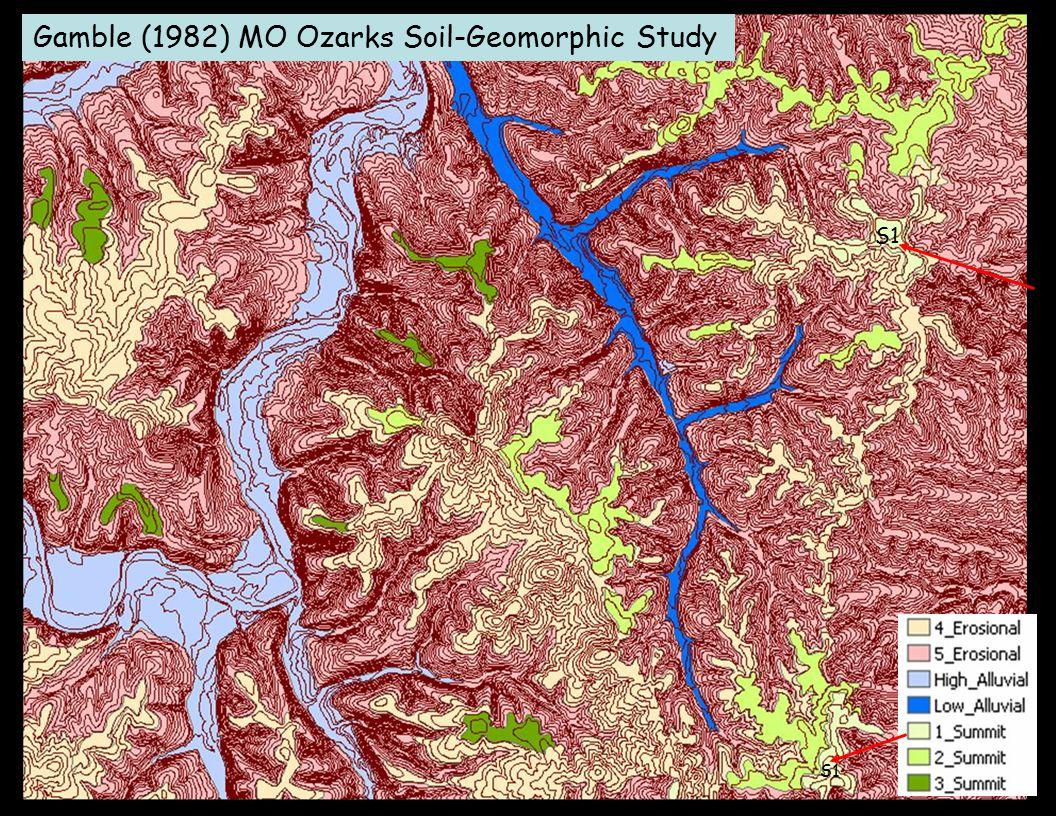 Gamble (1982) MO Ozarks Soil-Geomorphic Study