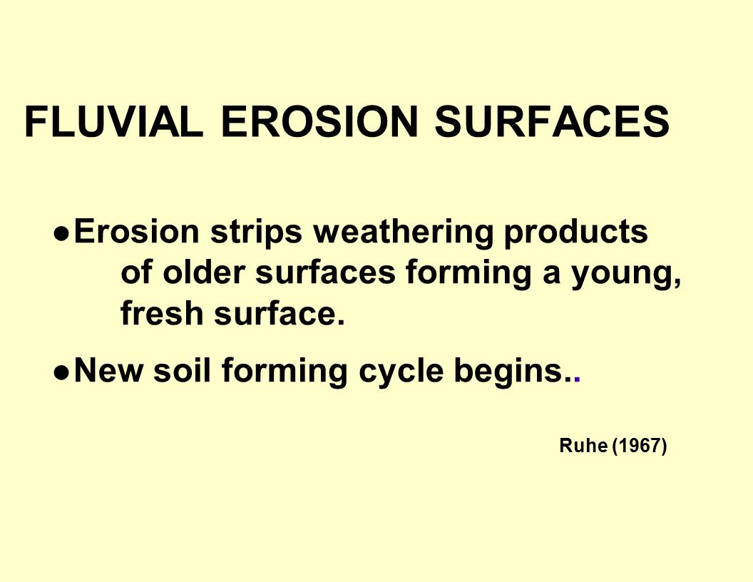 FLUVIAL EROSION SURFACES