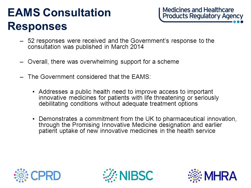 EAMS Consultation Responses