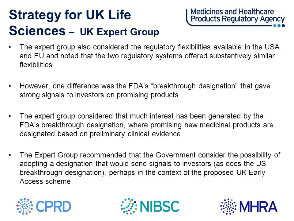 Strategy for UK Life Sciences – UK Expert Group