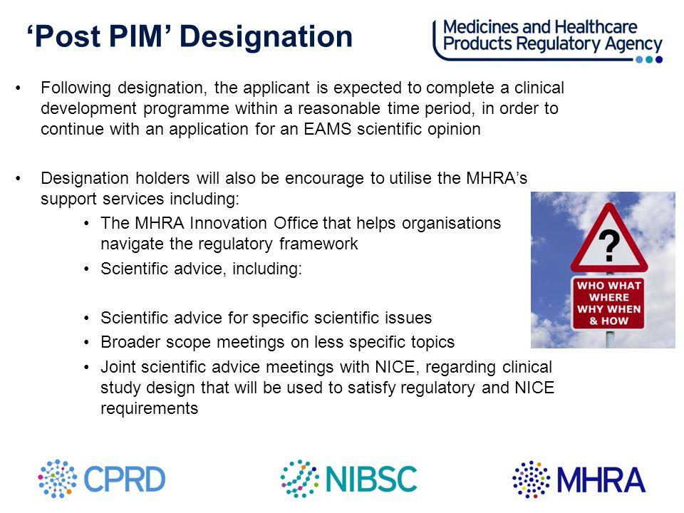 'Post PIM' Designation