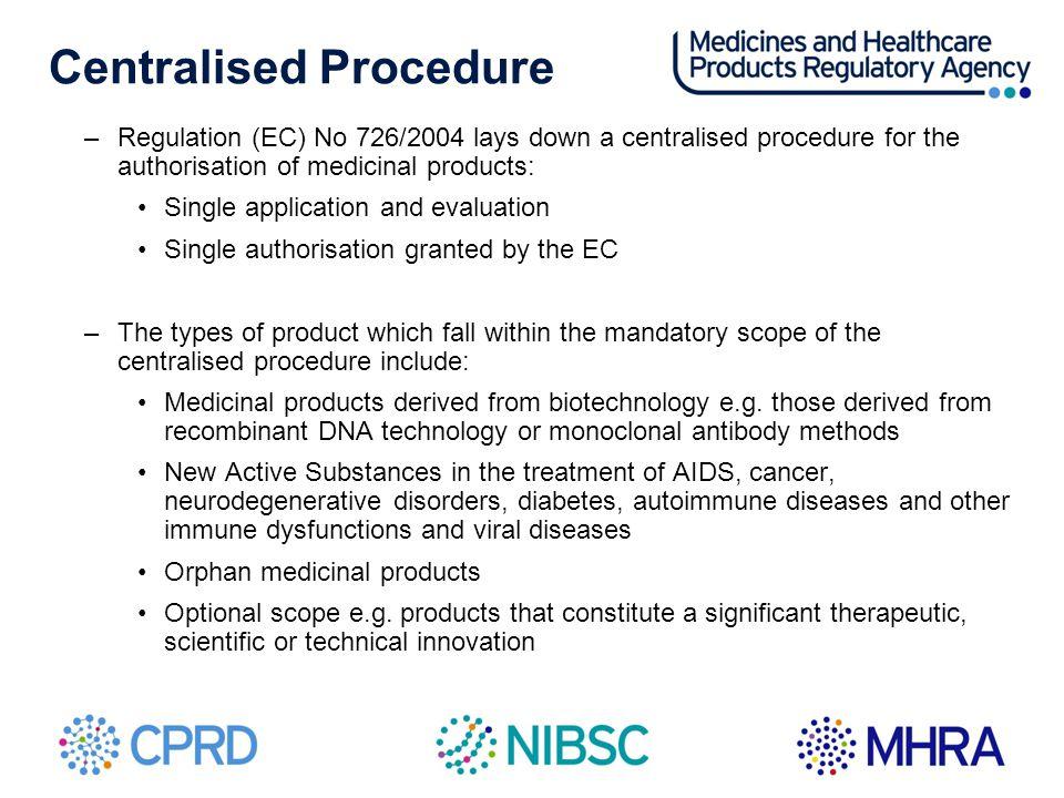Centralised Procedure