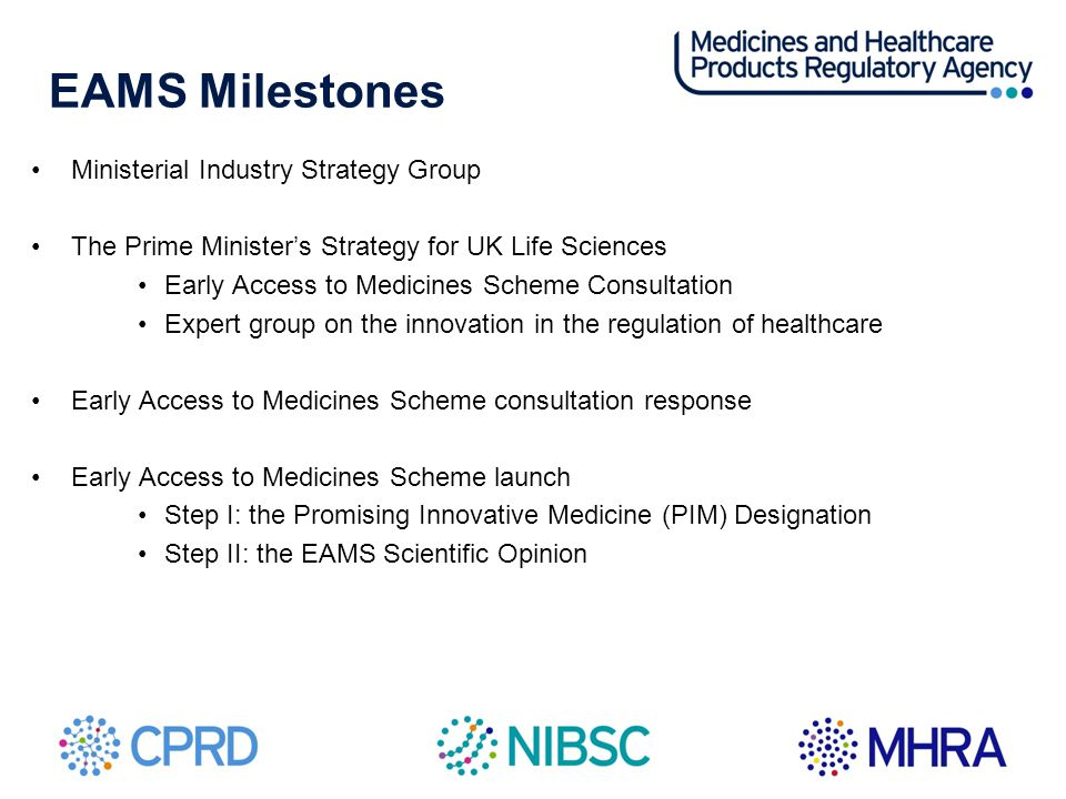 EAMS Milestones Ministerial Industry Strategy Group