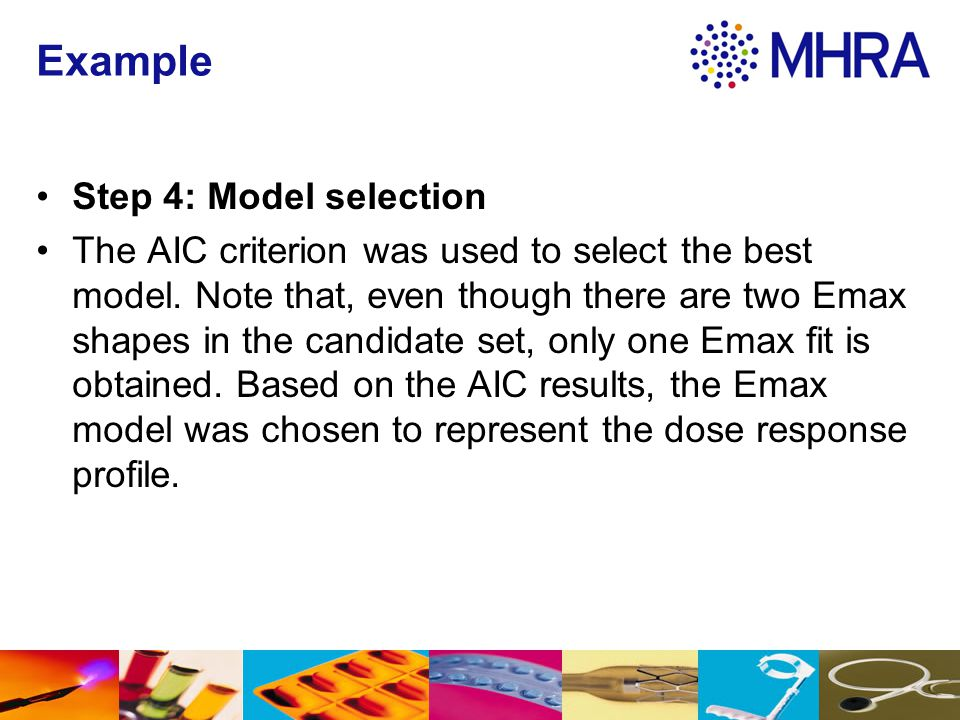 Example Step 4: Model selection
