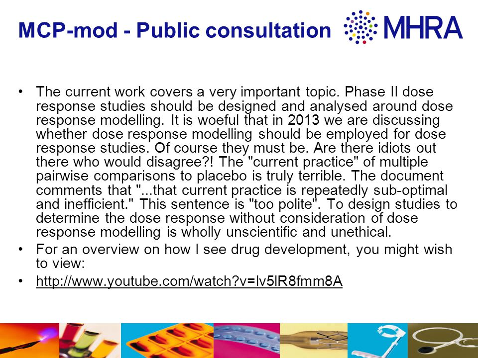 MCP-mod - Public consultation