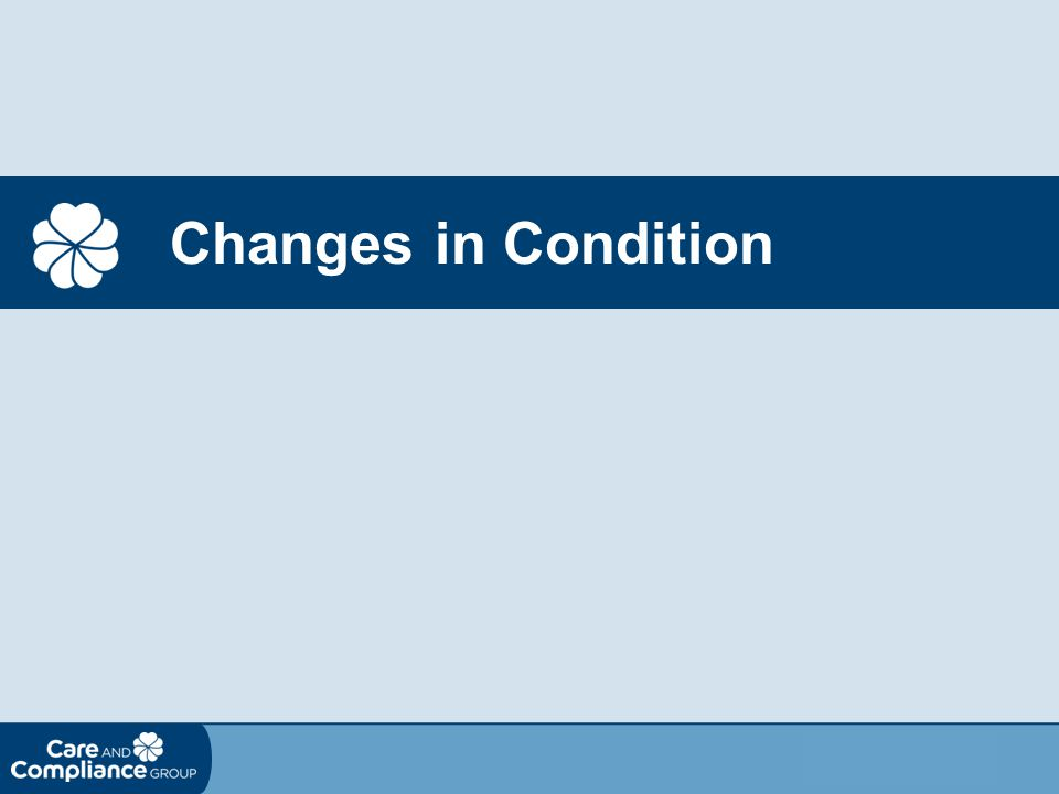 Changes in Condition