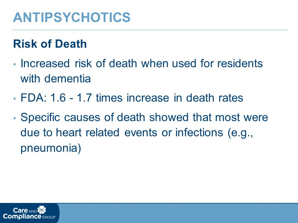 Antipsychotics Risk of Death