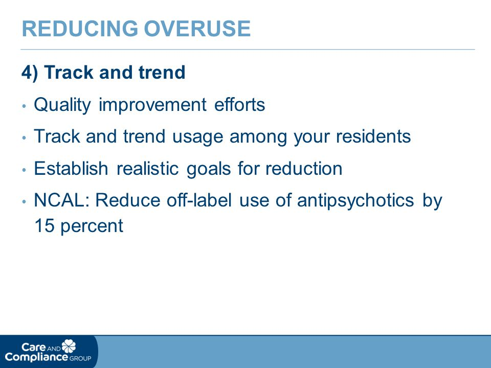 Reducing Overuse 4) Track and trend Quality improvement efforts