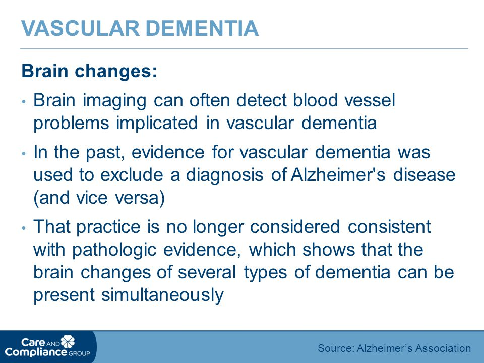 Vascular Dementia Brain changes: