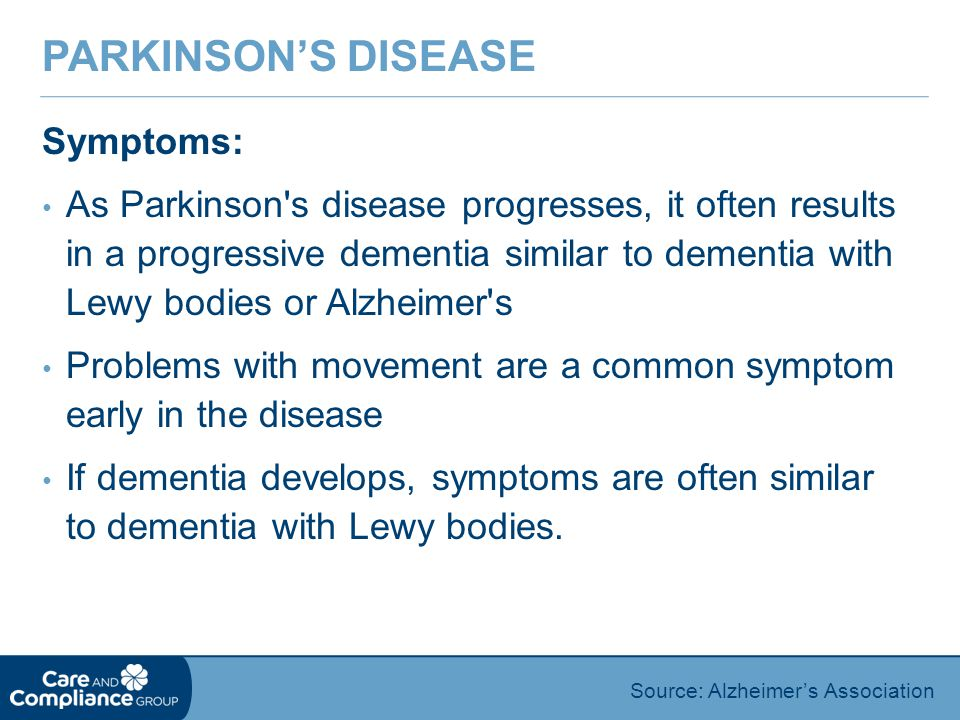 Parkinson's Disease Symptoms: