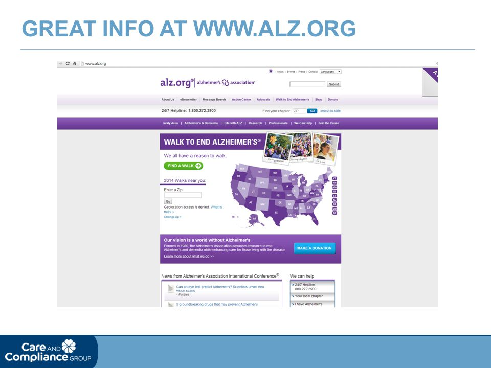 Great Info at www.alz.org