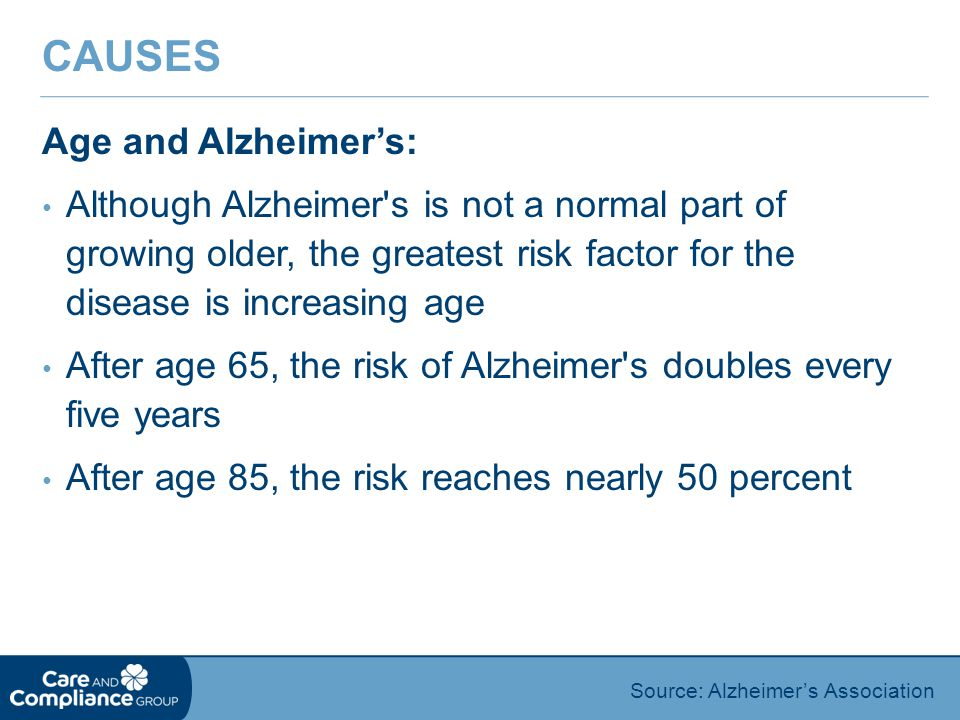 Causes Age and Alzheimer's: