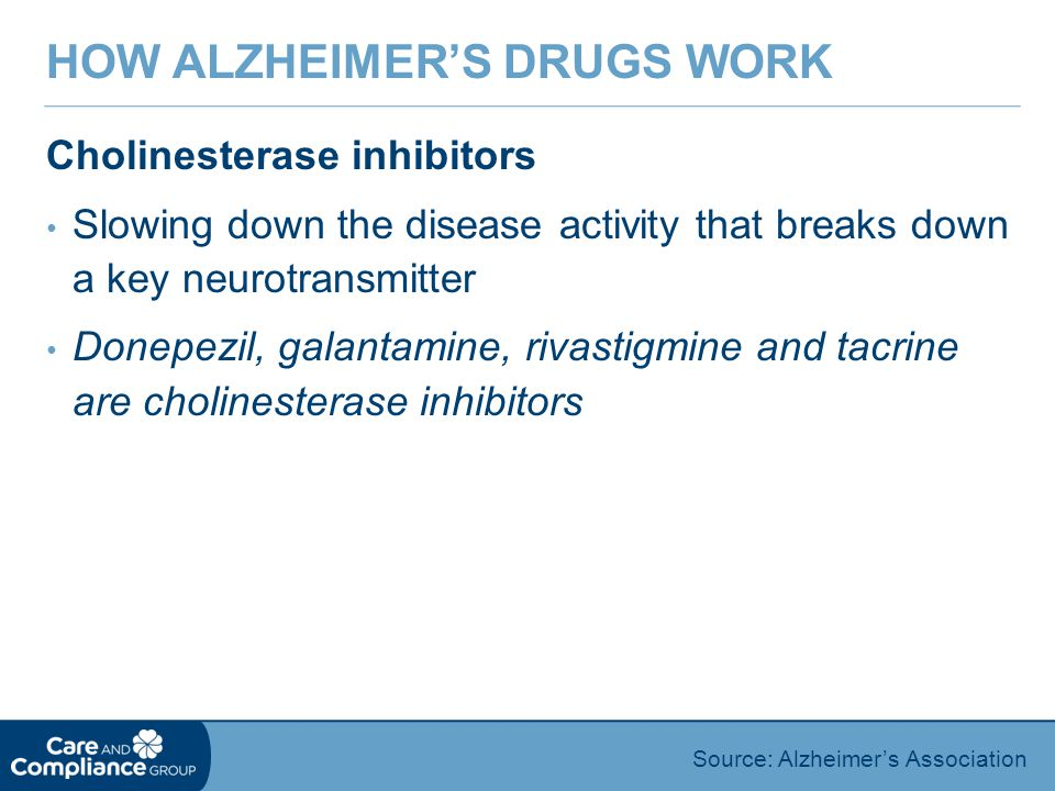 How Alzheimer's Drugs Work