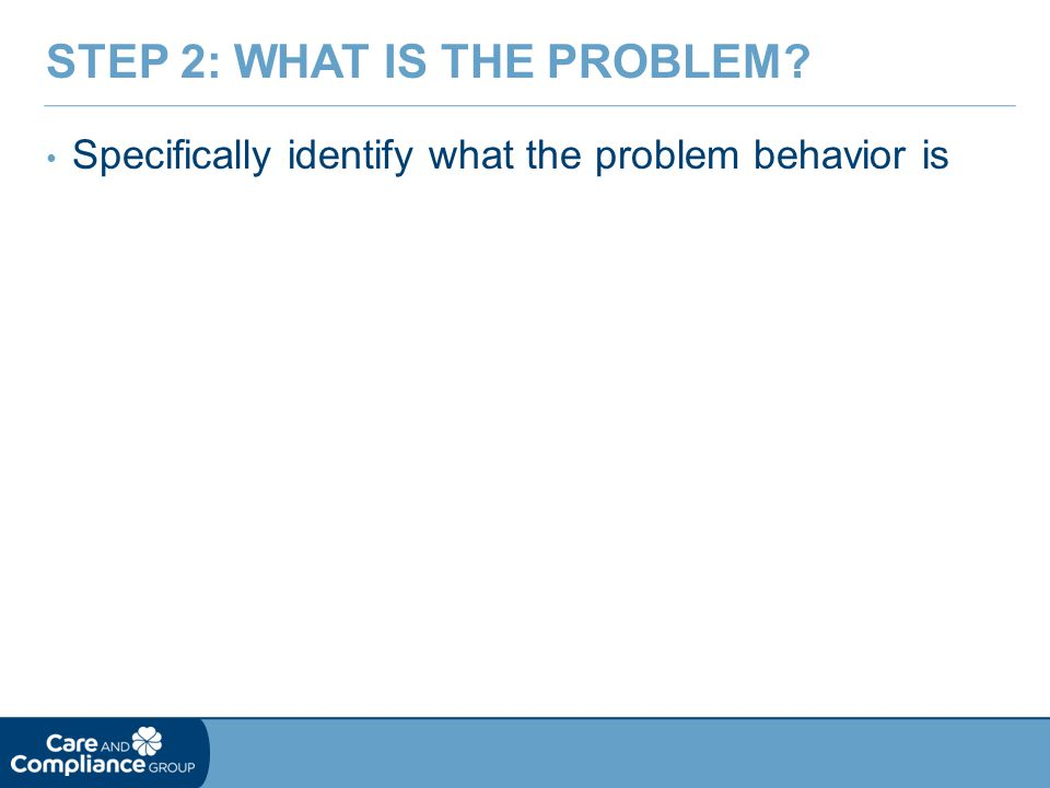Step 2: What is the Problem