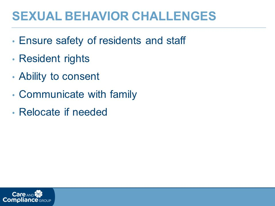 Sexual Behavior Challenges
