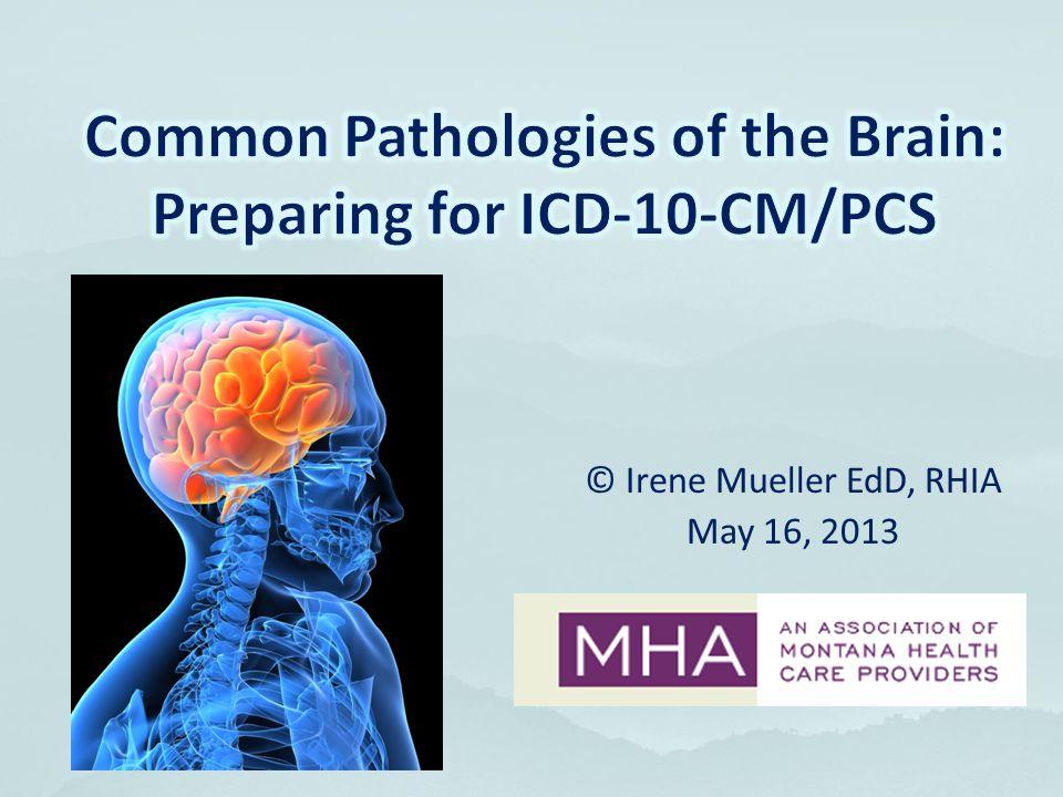 Common Pathologies of the Brain: Preparing for ICD-10-CM/PCS
