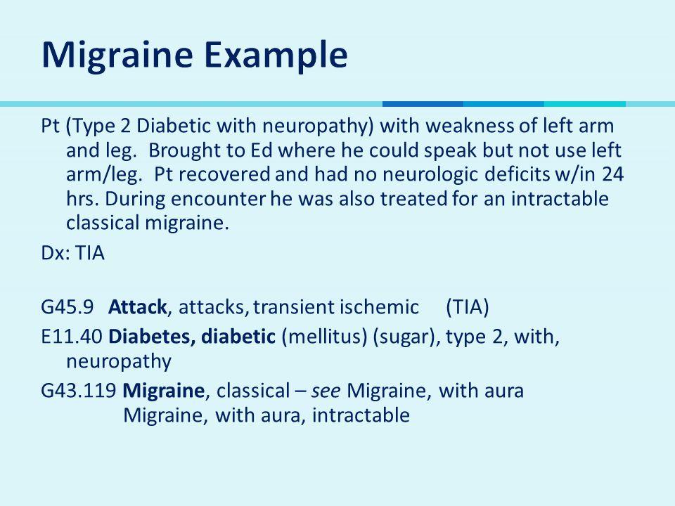 Migraine Example
